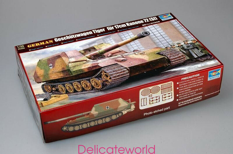 Trumpeter 00378 1 35 Geschutzwagen Tiger fur 17cm K72