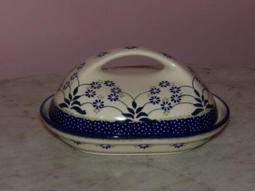 UNIKAT Signature Exclusive Cyndia Pattern! Polish Pottery Fancy Butter Dish