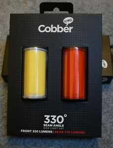 Knog Mid Cobber LED USB Rechargeable Bicycle Lights Front, Rear or Twinpack