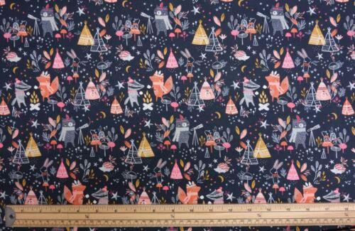 Dashwood Studio Under the Stars Baby Woodland 100/% Cotton Patchwork Fabric