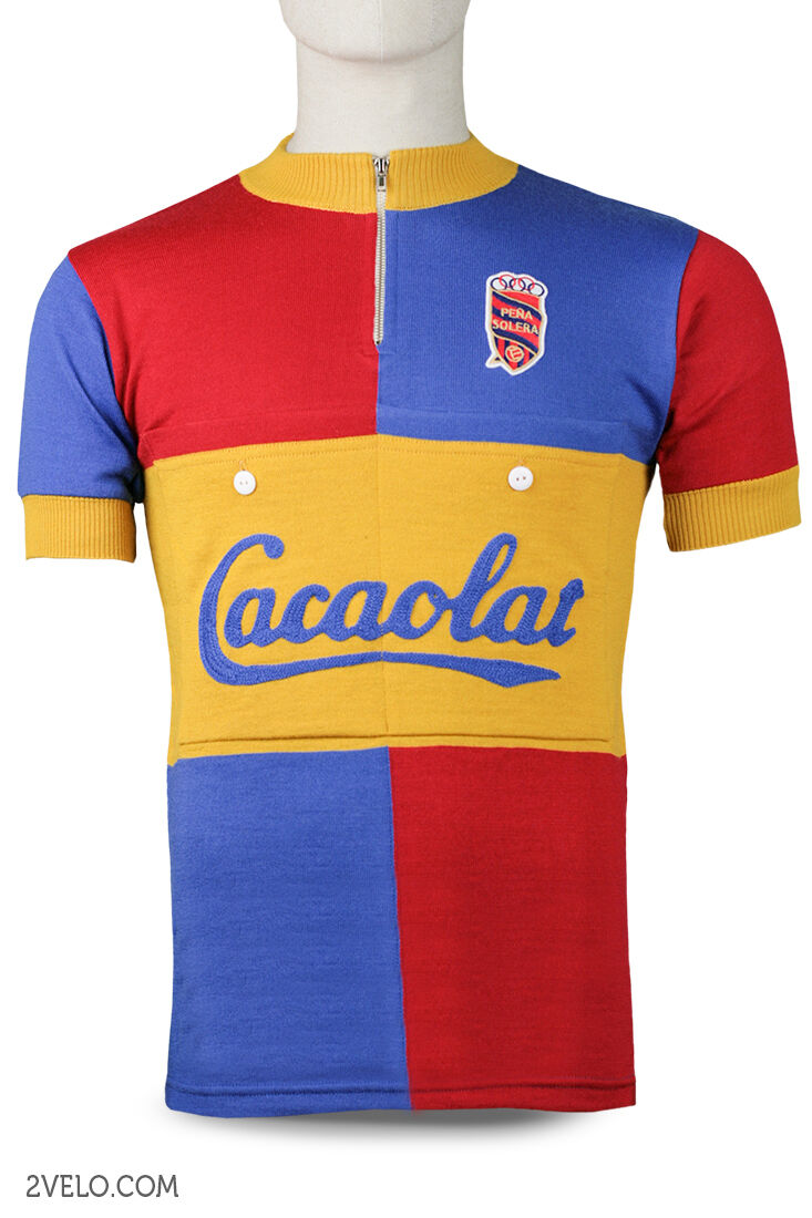 PENA SOLERA CACAOLAT vintage wool jersey, new, never worn L
