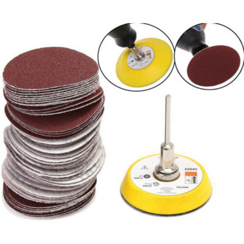 60pcs//Set 2/'/'   Sanding Discs Hook Loop Sandpaper Round100-2000 Grit