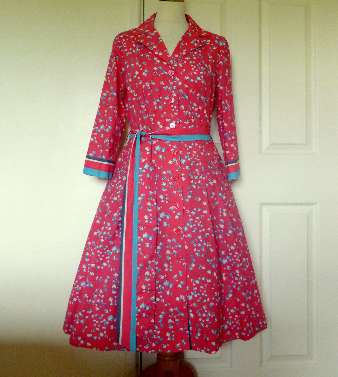 1950s style Boden dress 14 New Pink ditsy floral RRP .00