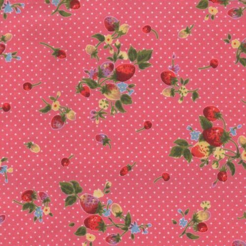 Rose /& Rouge Fraise À Motifs Poly Coton Robe Tissu