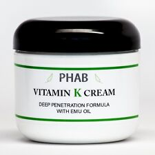 2oz - Vitamin K Cream - Thread Spider Varicose Veins Scars Rosacea Capillaries