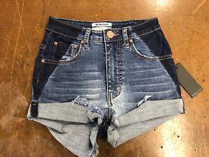 139 Blue Pantaloncini 26 Teaspoon NWT Stretch donna Shorts Taglia da In Superstar One 8qpTP