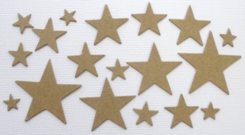 {3} *CRESCENT MOON /& STARS* Bare Chipboard Die Cuts