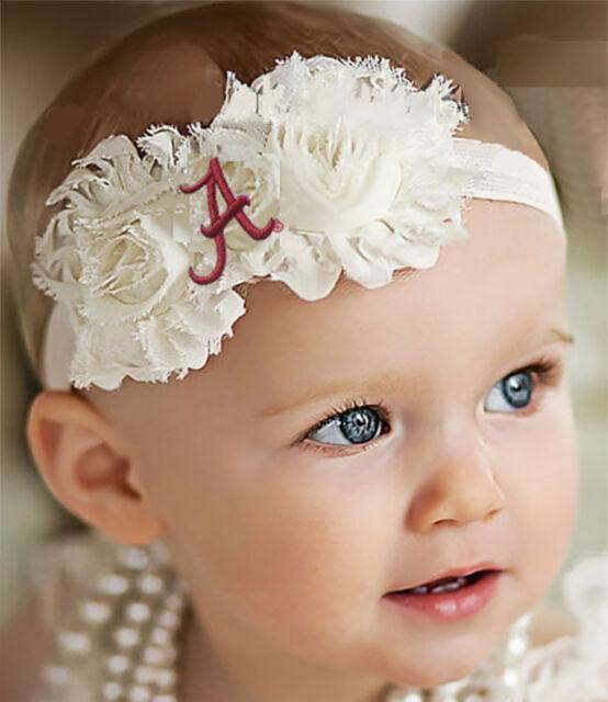 Headband Baby Girl Toddler Newborn Shabby Flower Bow Nylon Hair Band Accessory