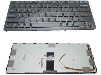 Laptop Keyboard for Sony VAIO SVF14 9Z.NADBQ.00A 149237081SA AEHK8Q001103A Arabia AR Black with Backlit