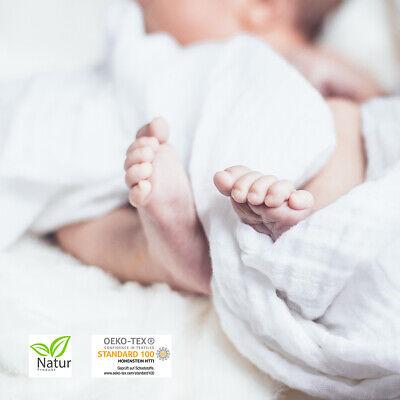 Wei/ß 40 x 60 cm kuschelig weicher Bezugsstoff bis 95/° C waschbar atmungsaktive Faserf/üllung Traumschloss Baby Kinder Flach Kopfkissen