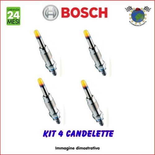 Kit 4 candelette Bosch AUDI TT Q5 Q3 Q2 A6 A5 A4 A3 A1 SEAT TOLEDO IV ALHAMBRA