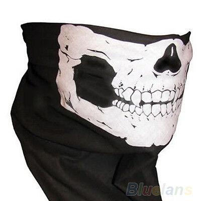 Cool Skull Bandana Bike Motorcycle Helmet Neck Face Mask Paintball Ski Headband