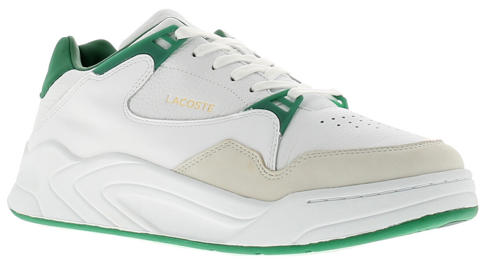 Lacoste court slam leather mens trainers white UK Size 9.5