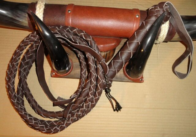NYLON  whip 16 plait  6 ft bullwhip whips bullwhips BLACK indiana jones
