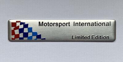 BMW M Motorsport Emblem Aufkleber Sticker 8,2cm x 1,7cm Aluminium
