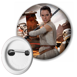 Star Wars Rey Button Pin Badge 58mm