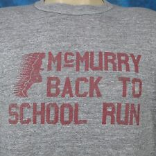 vintage 80s RAYON TRI-BLEND MCMURRY RUN PAPER THIN T-Shirt MEDIUM race marathon