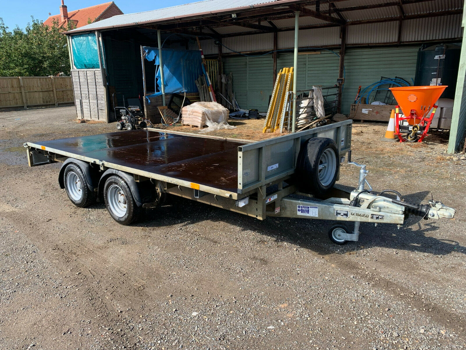 2017 Ifor Williams LM126 12ft Twin Axle Flat Bed Trailer