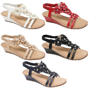 WOMENS-SANDALS-LADIES-STRAPPY-GLADIATOR-MID-LOW-WEDGE-EVENING-SUMMER-BEACH-SHOES