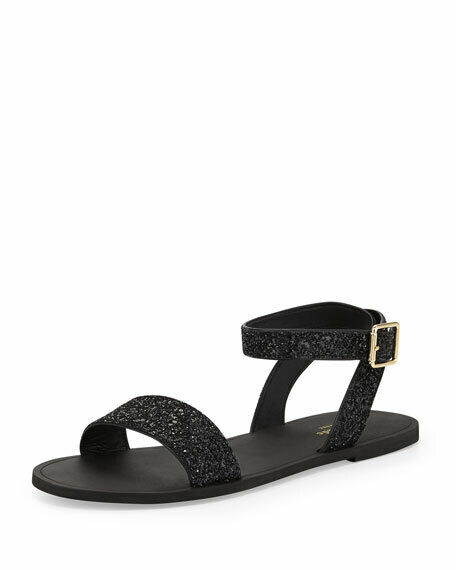 NIB Kate Spade Coney Glitter Ankle Wrap Sandals Size 9.5