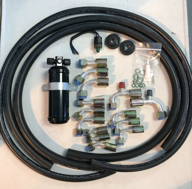 Air Conditioning Hose Kit Universal O Ring W/ Dryer & Trinary Switch