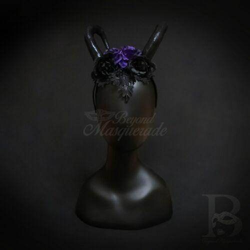 Ram Horns Cosplay Headband Black Purple HB392
