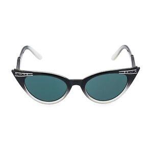 50s-Stile-Vintage-BETTY-NERO-cristallo-graduato-Cat-Eye-occhiali-da-sole