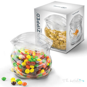 Image Is Loading Fred Unzipped Glass Zipper Bag Bowl Cool Snack