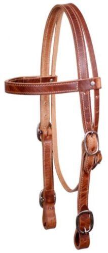 SHOWMAN American Made Medium huile Western en cuir cheval de trait Taille éperons!