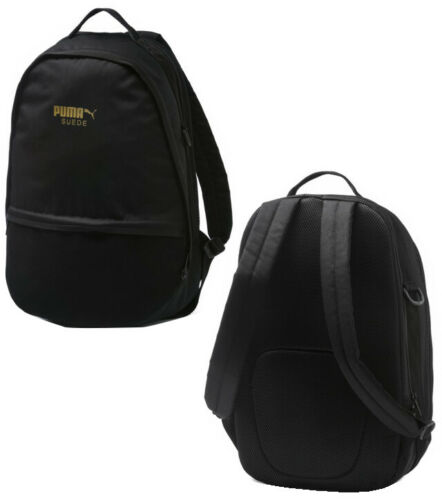 Puma Suede Unisex Backpack Rucksack Bag Kids Adults Black 075087 01 P0