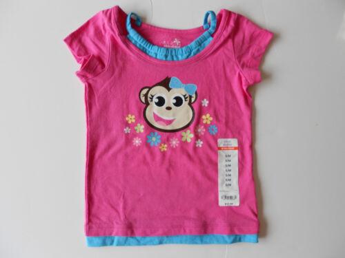 5//M NWT Okie Dokie Girls Vibrant Pink Monkey T-Shirt 4//S