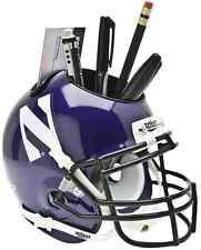 NORTHWESTERN WILDCATS NCAA Schutt Mini Football Helmet DESK CADDY