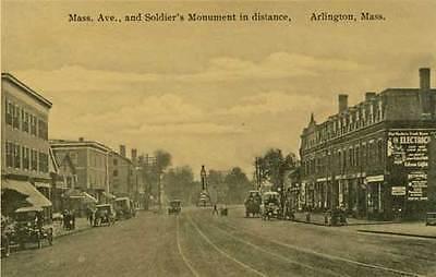 Arlington MA Mass Ave Postcard Print
