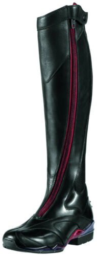 ARIAT Womens Volant Tall Red Zip Front Show Boot 10007901 Black New