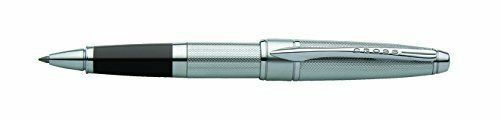Cross Apogee Rollerball Pen with Spring-loaded Clip Chrome Ref AT0125