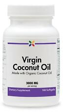 Stop Aging Now Organic Virgin Coconut Oil 3000mg Rich in MCTs 180 Softgels 3/19