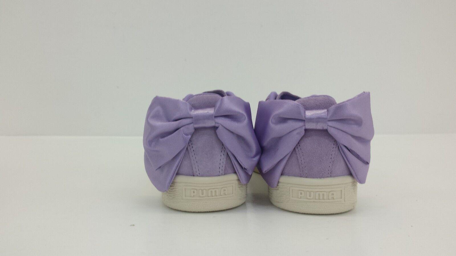 Puma Damens Damens Puma Suede Bow Purple Rose 367317 05 - BRAND NEW IN BOX 90130f