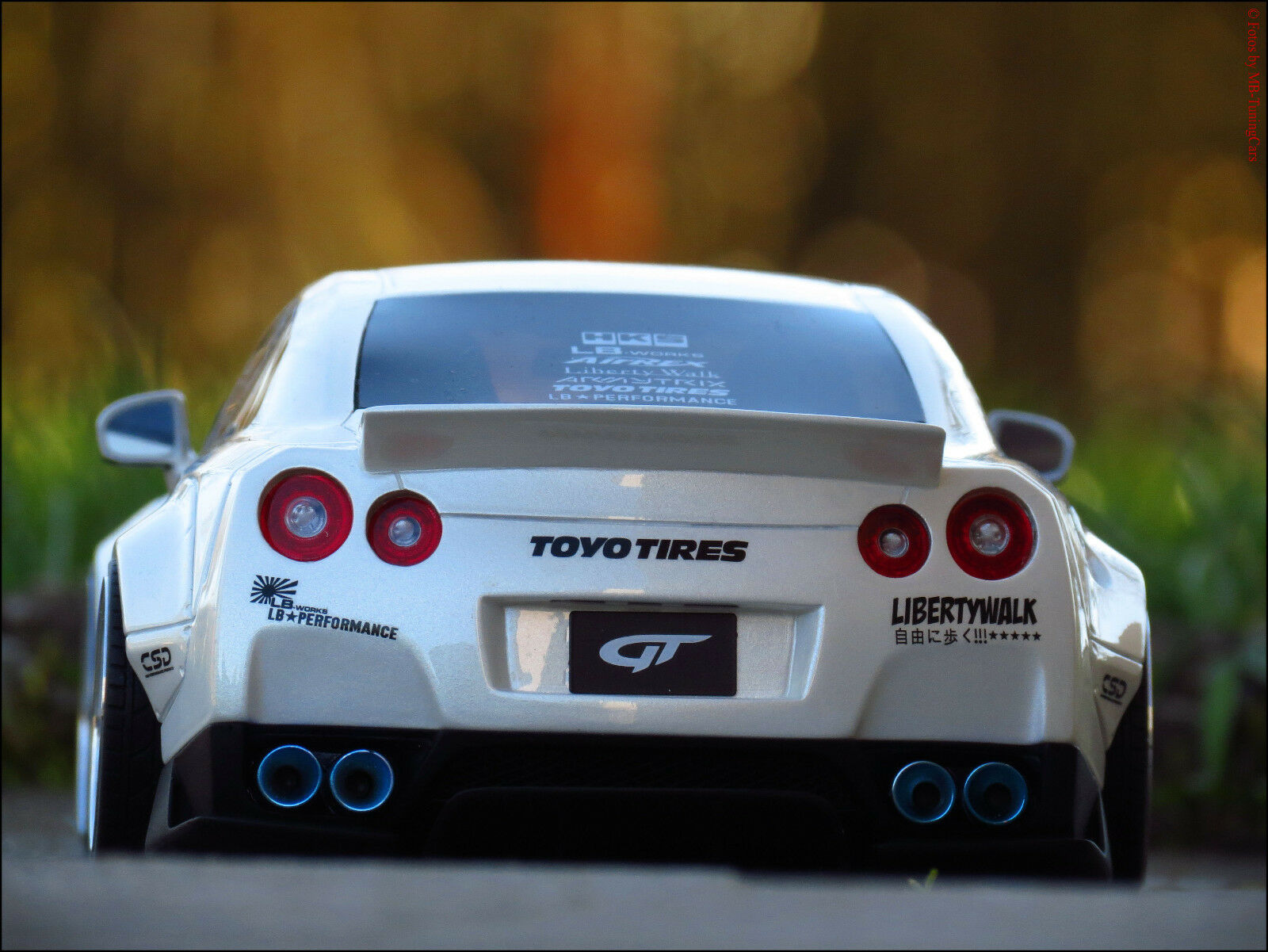 1 18 tuning NISSAN LB GT-R r35-Breitbau  LIBERTY Walk  LIMITED CAR Nº 811-rar