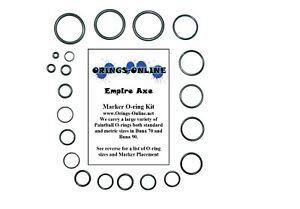 Empire-Axe-Paintball-Marker-O-ring-Oring-Kit-x-4-rebuilds-kits