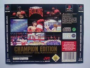 * Retour Inlay Seulement * Victory Boxing Champion Edition Ps1 Psone Playstation 1 Ps One-afficher Le Titre D'origine ModèLes à La Mode