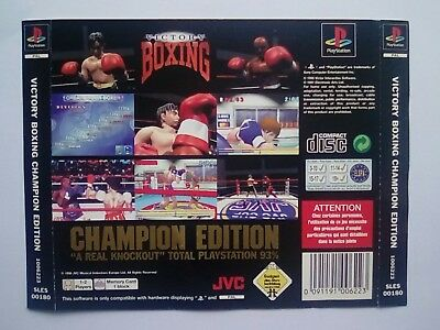 *back Inlay Only* Victory Boxing Champion Edition Ps1 Psone Playstation 1 Ps One