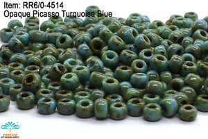 Miyuki Round Rocailles 15//0 Opaque Torquoise Seed Beads RR-412