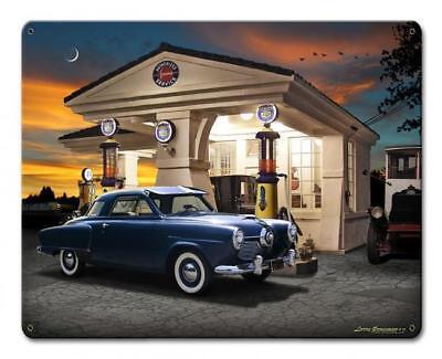 1950 Studebaker Racing Vintage Classic Automobile Hot Rod Car Metal Sign LG894