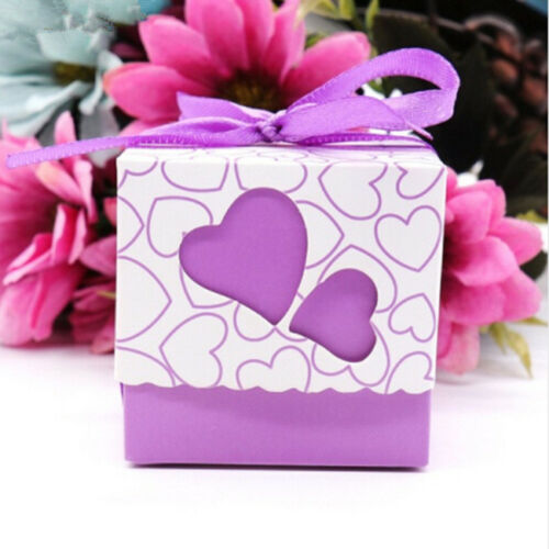 50PCS Love Heart Candy Sweet Boxes Wedding Favor Party Gift Box Case HY