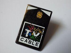 Pin-S-Vintage-Pins-de-Solapa-Coleccionista-Publicidad-TV-Cable-Lote-F063