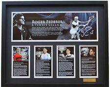 New Roger Federer Signed Limited Edition Memorabilia Framed