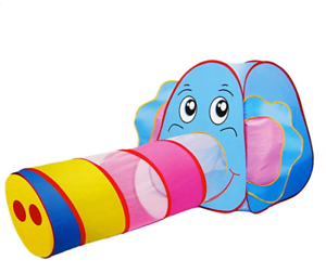 Großes Spielzelt Elefant in bunt Kinder POP-UP Bällebad für Kleinkinder