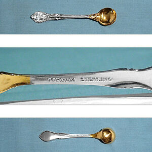 Gold Wash Gorham Chantilly Sterling Silver Salt Spoon New Mark