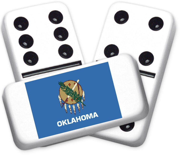 Americana Series Oklahoma Design Double six Professional Dimensione Dominoes