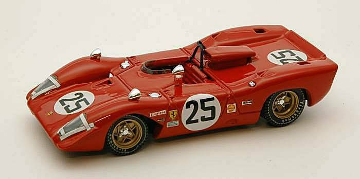FERRARI 312 P SPIDER  25 2nd 12h Sebring 1969 Andretti/Amon 1:43 Model